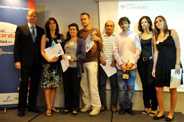 Finalistas y ganadiores con Fernando Marías