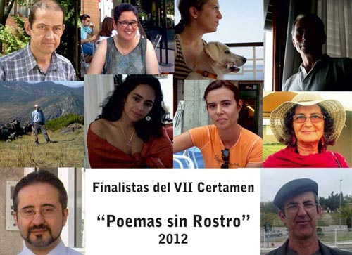 Finalistas del VII Certamen poemas sin rostro 2012
